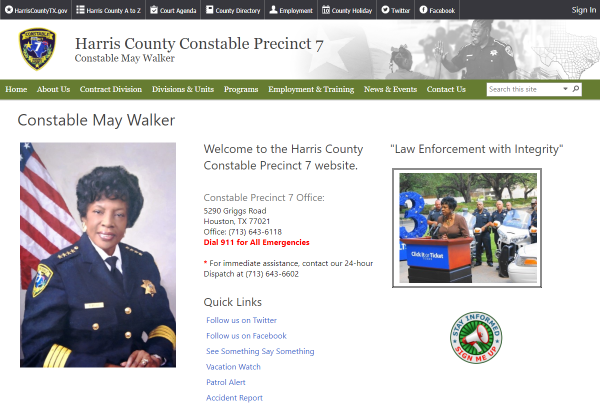 Harris County Constable 7
